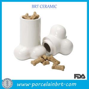 Glossy Bone Desgin Cookier Porcelain Jar pictures & photos