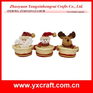 Christmas Decoration (ZY16Y115-1-2-3 14CM) Christmas Candy Basket Inflatable Noel pictures & photos