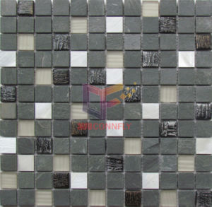 Mix Color Glass with Marble Mosaic (CS231) pictures & photos