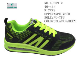No. 49509 PU Men Sport Stock Shoes pictures & photos