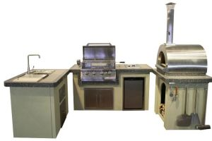 Luxury BBQ Island! ! 304 Stainless Steel Bulit in Gas BBQ Grill with Pizza Oven, Drawer, Sink pictures & photos