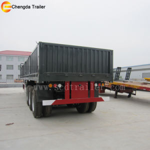 3 Axles 40 Ton Side Wall Cargo Semi Trailer for Sale pictures & photos