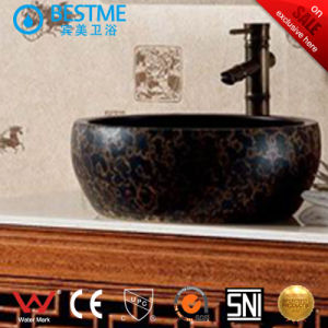 Oak Wooden Classical Bathroom Cabinet with Mirror (BY-F8076) pictures & photos