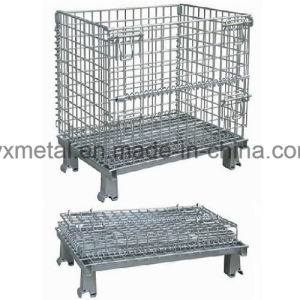Galvazined Folding Stackable Wire Mesh Metal Storage Stacking Container pictures & photos