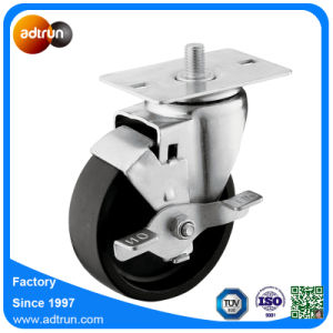 Wheel Lock Braked 4inch PP Swivel Caster pictures & photos