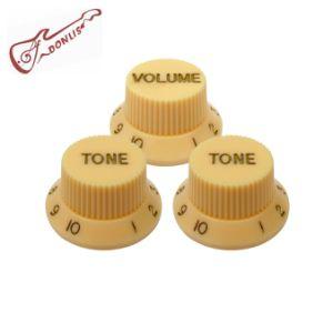 Vulome and Tone Control Cream Guitar Knob for Strat Guitar pictures & photos