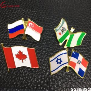 China Factory Custom National Canada Flag Badge Lapel Pins pictures & photos