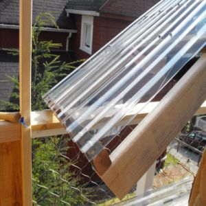 0.8mm Greenhouse Corrugated Polycarbonate Sun Board Roof Sheets Plastic Panels pictures & photos