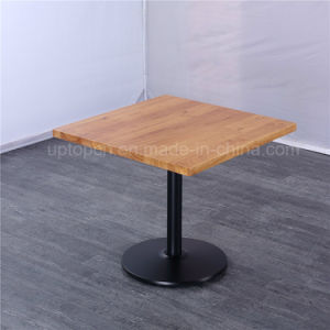 New Style Square Table Cafe Solid Wood Top Restaurant Table (SP-RT491) pictures & photos