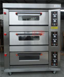 3 Doors and 9 Trays Gas Stainless Steel Door Deck Oven (ZBB-309M) pictures & photos