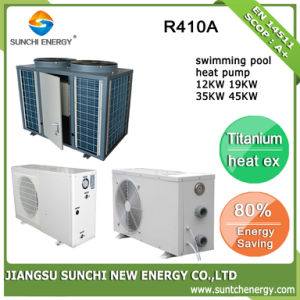 Thermostat 32deg. C for 20~245cube Meter Water 12kw/19kw/35kw/70kw R410A Cop4.62 Swimmig Pool Heat Pump Water Heater pictures & photos
