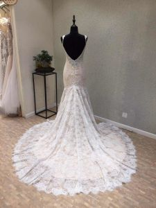 Fashion Lace Beading Mermaid Evening Prom Bridal Gown Wedding Dress pictures & photos