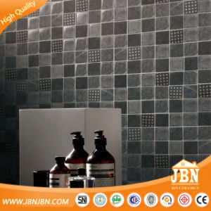 High Quality Grey Color Inkjet Wooden Look Glass Mosaic (V639045) pictures & photos