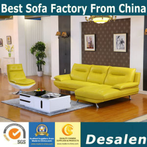Red Genuine Leather Sofa in Living Room Furniture (612) pictures & photos