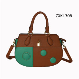 Celebrity Girl Mini PU Shoulder Handbag with Button Zxk1708 pictures & photos