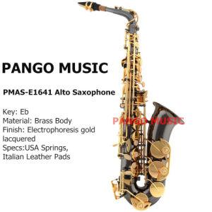 Pango Music Eb Tone Gold Alto Saxophone (PMAS-E1641) pictures & photos