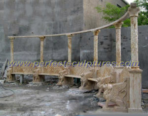 Carved Stone Marble Garden Chair for Garden Furniture (QTC060) pictures & photos