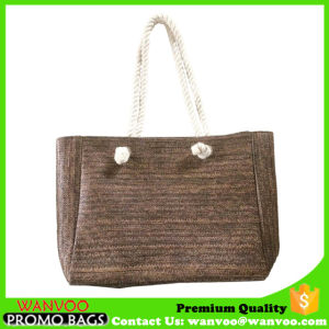 Wicker Straw Beach Bags with Cotton Rope Handle pictures & photos