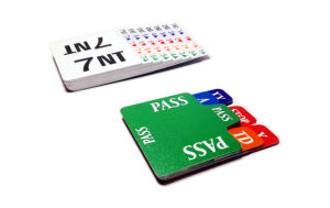 Cardboard Symmetrical Bidding Cards for Left and Right Hand Players pictures & photos