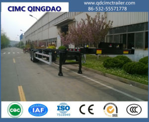 Cimc Tri Axis Hydraulic 40FT Container Frame Trailer Chassis Truck pictures & photos