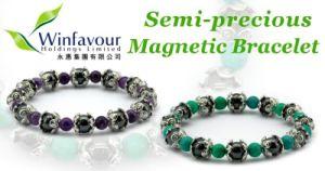 Semi Precious Stones Magnetic Bracelet