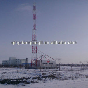 GSM Cellular Telescoping Antenna Tower Mast Pole and Telecom Shelter