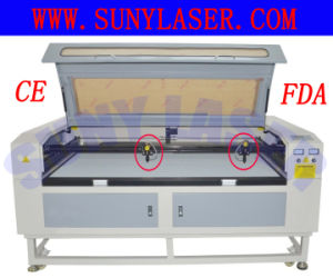 High Speed Double Heads Laser Cutting Machine for Leather 1600*1000mm pictures & photos