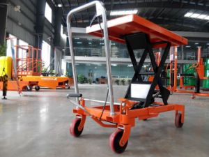 New Model with Protective Wheel Scissor Lift Platform pictures & photos