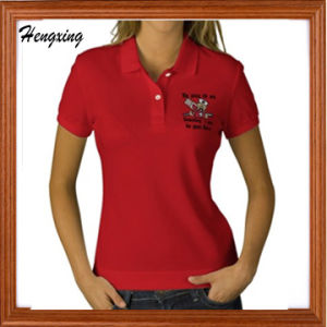 Red Cotton Polo T-Shirts pictures & photos