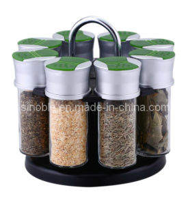 Glass Jar / Glass Bottle / Spice Rack Set (KG0503480002)