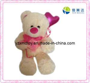 Plush Teddy Bear Toy with Red Scarf (XMD-F046) pictures & photos