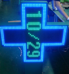 LED Pharmacy Cross Sign (Bicolor)