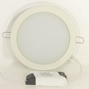 2 Year Warranty Glass Round LED Panel Light 12W pictures & photos