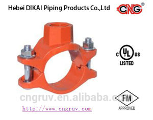 FM /UL Approved Grooved Fitting Ductile Iron Threaded Mechanical Tee pictures & photos