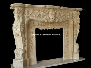 Fireplace Marble Carving Mantel (FRP509) pictures & photos