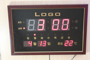 Logo Customized LED Calendar Clock (ZT-022B) pictures & photos