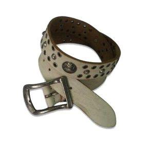 Fashion Rivet Decorative Genuine Leather Man Belt