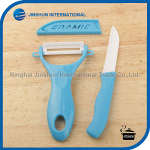 Ceramic Knife Peeler Set with Color Handle pictures & photos