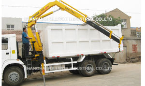Dump Truck With Crane pictures & photos