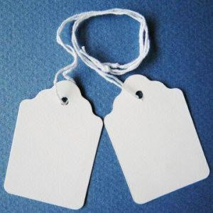 Merchandise Tags in Paper