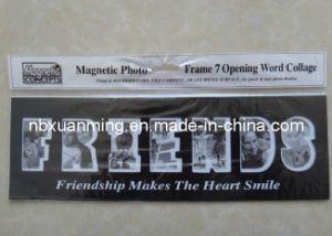 "7 Opening Word Collage ""Friends"" Magnetic Photo Frame"
