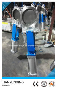 Semi-Lugged Stainless Steel Pneumatic Actuator Knife Gate Valve pictures & photos