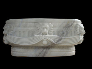 White Marble Bathtub, Stone Tub (BTB016) pictures & photos