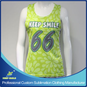 Custom Sublimation Girl′s Lacrosse Raceback Reversible Jersey pictures & photos