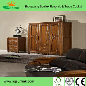 Arc Shaped High Gloss Solid Wood Office Furniture for Chairman pictures & photos