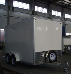 Cargo Trailer with Aluminum Decoration (GW-BLV12) pictures & photos