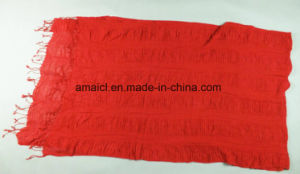 Fashion Dyed Crepe Shawl Crinkle Acrylic Scarf for Ladies (ABF22004021) pictures & photos
