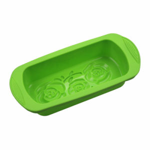 Green BPA Free FDA/LFGB Silicone Loaf Plate with Handles pictures & photos