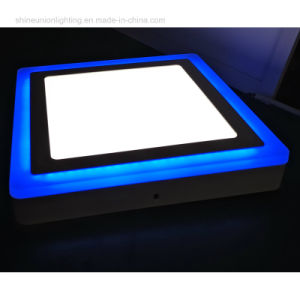 6+2 W LED Panel Light with Blue Edge