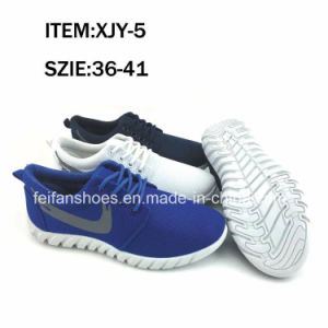 Newest Women Leisure Sneaker Shoes Injection Canvas Shoes (FFXJY-5) pictures & photos